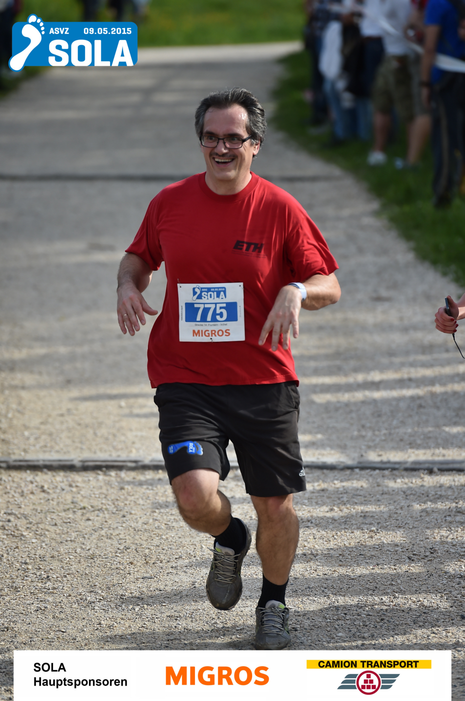 janos at the sola race